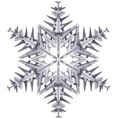 A fun aerodynamic snowflake from photographer Simon Gardiner #photography #art