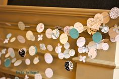 card garland, greet card, crafti, birthday idea, old cards, old greeting cards, garlands, diy, parti