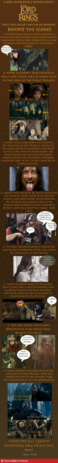 More LOTR behind-the-scenes facts and stories!