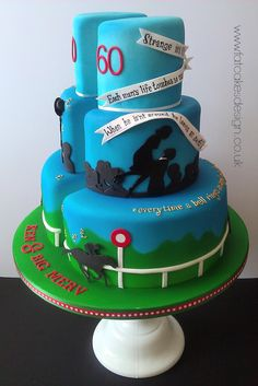 Both father and son into horse racing...including quotes and silhouettes from his favourite film.