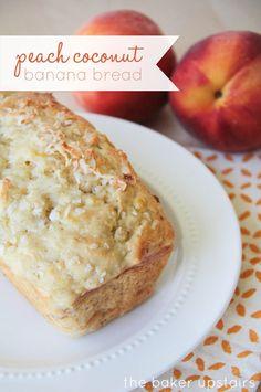 Delicious Peach Coconut Banana Bread Recipe - YUM!