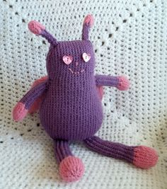 Purple and Pink girl bug $50 #handmadetoys