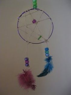 Birthday Party Theme: Pajama Time! (Making Dream Catchers with Kids)