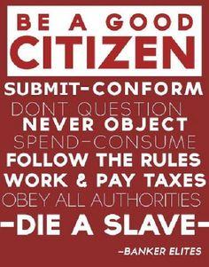 BE A GOOD CITIZEN