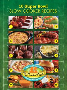 What game? We're all about the food (and the commercials)! From Finger Lickin Ribs, to Delicious Dips, to Mouthwatering Meatballs, these slow cooker recipes will make watching the big game delicious. Best part is the food stays warm in the crock while you're cheering on your favorite team! Victory! http://crockingirls.com/2013/01/10-slow-cooker-recipe-ideas-for-your-super-bowl-party/
