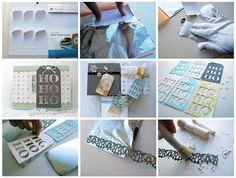Gilded Paper - tutorial at Splitcoaststampers by melstampz, via Flickr