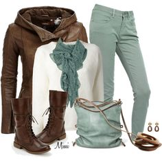 Winter Mint Chocolate, created by myfavoritethings-mimi on Polyvore