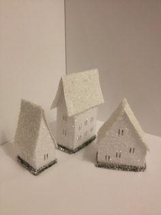 Christmas White Putz house