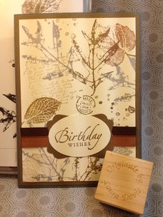 The Paper Hen: French Foliage Happy Birthday