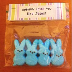 For my Sunday School kiddies.You could this for valentines day...nobody <3 you like Jesus...filling the bag with heart candy....going to do this for sure
