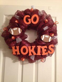 Virginia Tech Hokies Wreath