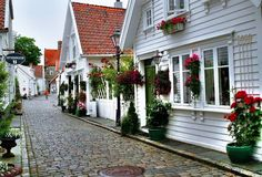 Old houses in Stavanger - Norway