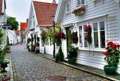 Old houses in Stavanger - Norway