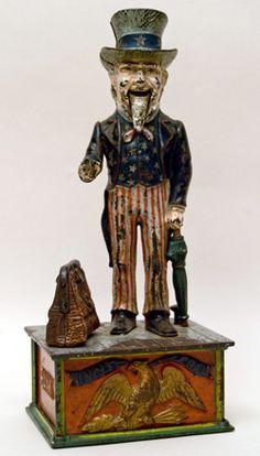Uncle Sam mechanical bank c. 1886-92.