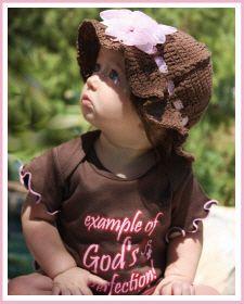 Christian Clothing | Crochet Beanies Hats for Girls :: Christian Clothing | Faith Baby - Christian Clothing, Christian Apparel, Christian Shirts, Christian Baby Clothing, Christian Gifts