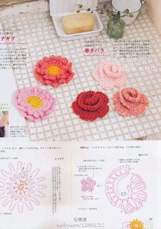 Crochet Wrap Rose - Chart