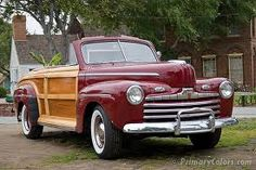 1946 Ford Sportsman Convertible ~ I love a woodie :)
