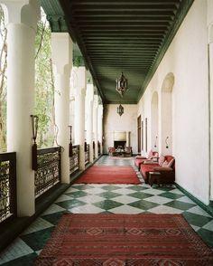 decor, back patio, dream, architectur, green, tile, el fenn, riad el, porch