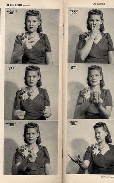 Sign language, Life magazine, 1942