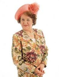 """Patricia Routledge as Hyacinth Bucket (pronounced """"bouquet"""")"""
