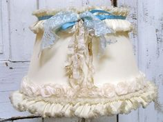 shabby chic tattered lampshade French market by AnitaSperoDesign, $89.00