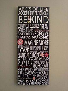 ABC' of life...