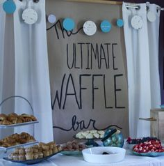 Couples Bridal Shower Ideas - The Ultimate Waffle Bar #bridalshowerideas #peartreegreetings