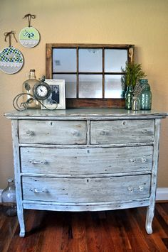 dare to dream...: {DIY refinished dresser and a salvaged window turned mirror} Decor, Design Project, Salvag Window, Dream, Turn Mirror, Diy, Refinish Dresser, Refinished Dressers, Window Turn