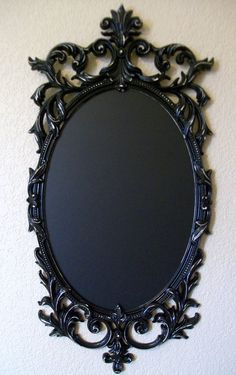 FRAMED CHALKBOARD-Shabby Chic-Ornate Vintage Frame Chalk board-Vintage Wall Mirror-Magnetic Chalkboard-Memo-Wedding Signs-Any Color-Black. $174.00, via Etsy.