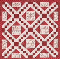 redwork quilt pattern