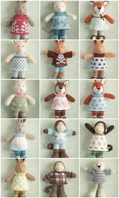 not a pattern but the cutest set of knitted animals I've ever seen! Knitted Rabbits, Animal Patterns, Knitted Animals, Knitting Animals, Cotton Rabbit, Rabbit Crochetandknit, Knit Animals, Toys, Amaz Knit