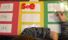 sight word practice, kindergarten spelling, kindergarten literacy centers, kindergarten sight words, center idea