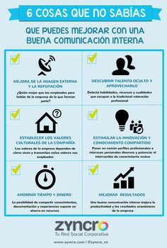 #Infografia #Curiosidades 6 cosas para mejorar en la comunicación interna. #TAVnews