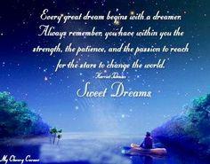 Sweet Dreams Quote Via My Cheery Corner Page On Facebook