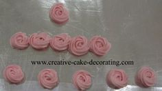 cake decorating technique - rossettes