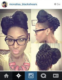 Natural Hair African American Updo Hairstyles