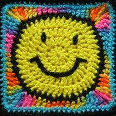 Ravelry: Cool Smiley Face 7 x 7 pattern by Donna Mason-Svara