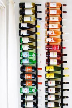 Wine racks wine display, wines, wine holders, inspir, wine bottles, homes, bottle art, wine racks in kitchen