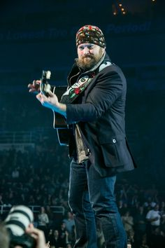 It means serious business. Zac Brown revs up for a performance on Jan. 1 in Detroit