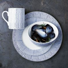 Inspiration: Hand-Painted Dotted Dinnerware Set at west elm