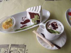 Cute Panda Coffee + Cake!