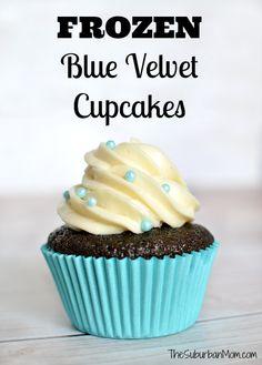 Frozen-Inspired Blue Velvet Cupcakes - Elsa Dessert