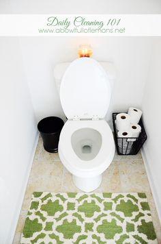 clean bathroom, small bathrooms, bathroom cleaning, basket, bathroom organization, cleaning tips bathroom, bowl full, lemon