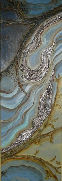 Stunning encaustic by Rarebirdart on Etsy