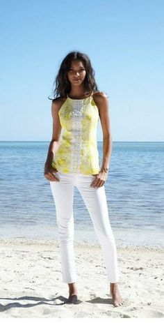 Lilly Pulitzer Annabelle Halter Top in Kissed by the Sun