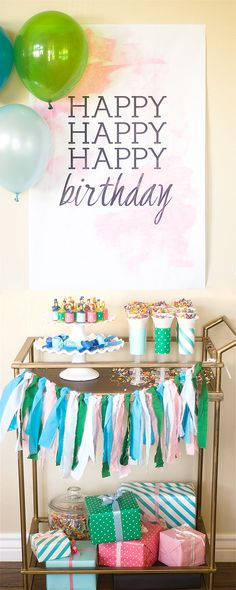 fabulous #confetti #birthday #party #decor #table #design #sweets #styling #details