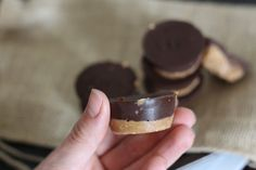 PaleOMG – Paleo Recipes – Easy Chocolate Almond Butter Cups