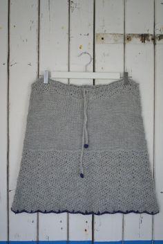 crochet & knit skirt