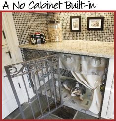love this!  you have the space on top for their food and treats and she's down below.  you can close the gate and curtains for nighttime.
