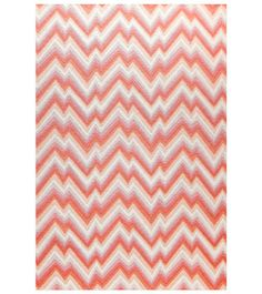 Celerie Kemble's debut rug collection for Merida includes Catalyst, inspired by ever-fashionable chevron prints.